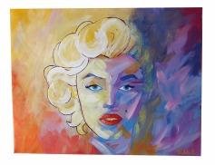 Retrato Espontáneo Marilyn Monroe