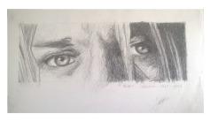 Retrato Mirada Kurt Cobain