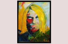 Retrato Espontáneo Kurt Cobain