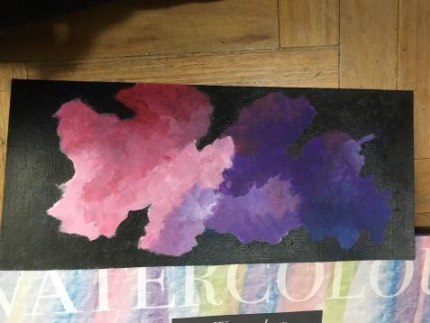 """""""pastel clouds"""" acrílico sobre papel"""