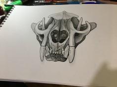 Grafito y tinta sobre papel