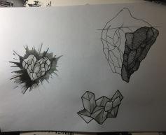 Aguada y tinta sobre papel